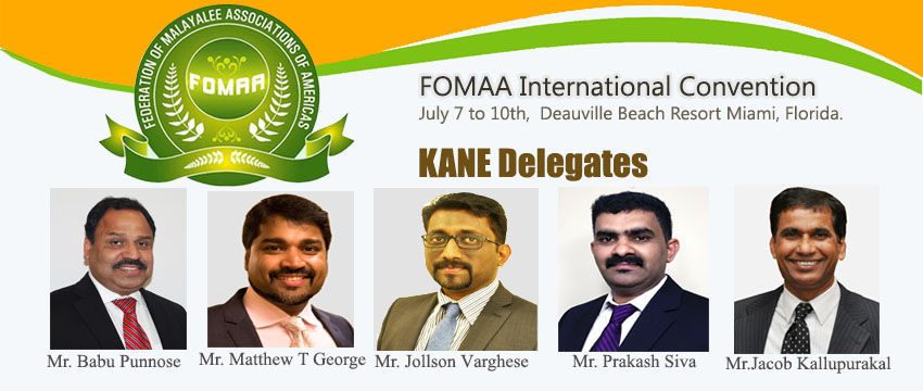 KANE announced its Nomination and Delegates for FOMAA International Convention 2016