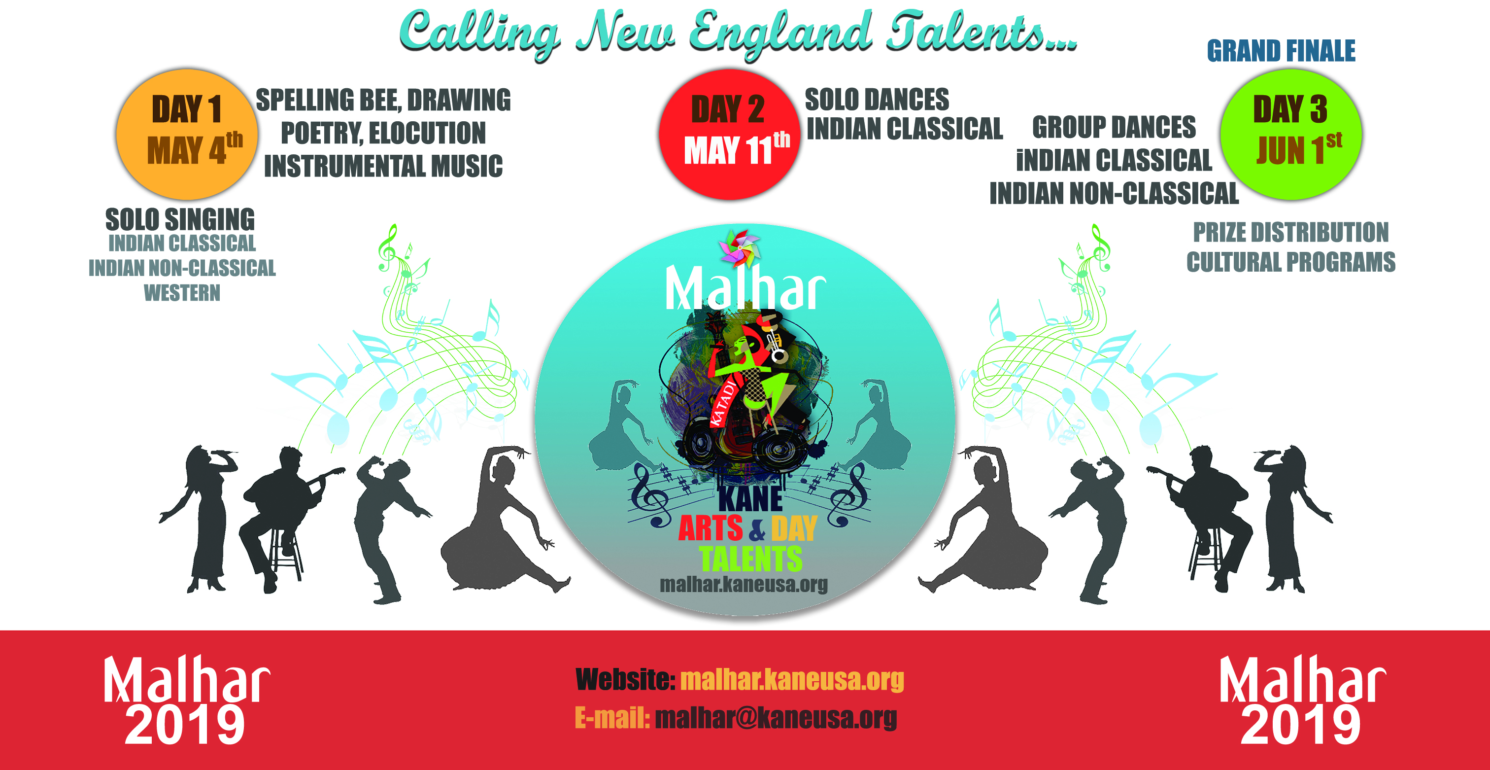 Malhar 2019- May 4th, May 11th & June 1st